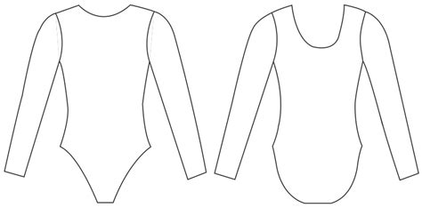 Design Your Own Leotard Template Sketch Coloring Page Leotard Design Template