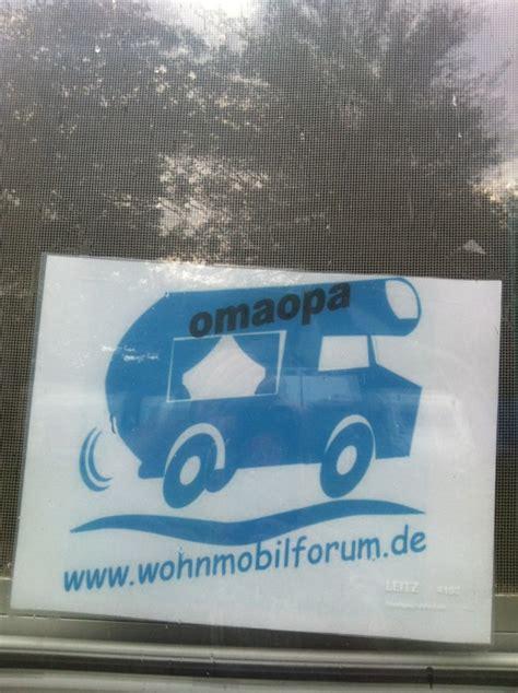 D Aufkleber Entfernen by Wer Hat Den Forum Aufkleber Auf Dem Womo Wohnmobil Forum