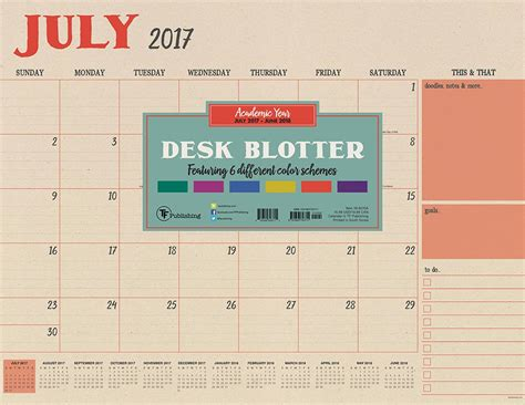 large desk blotter calendar cheapest copy of 2018 academic colorful kraft desk blotter