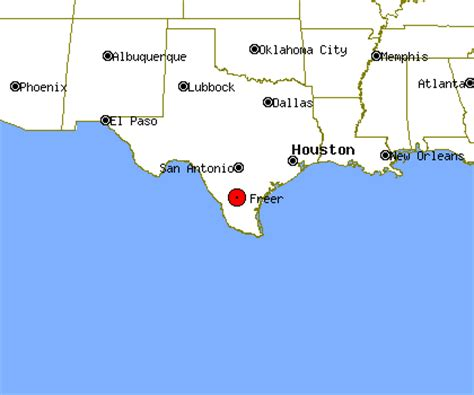 freer texas map freer profile freer tx population crime map