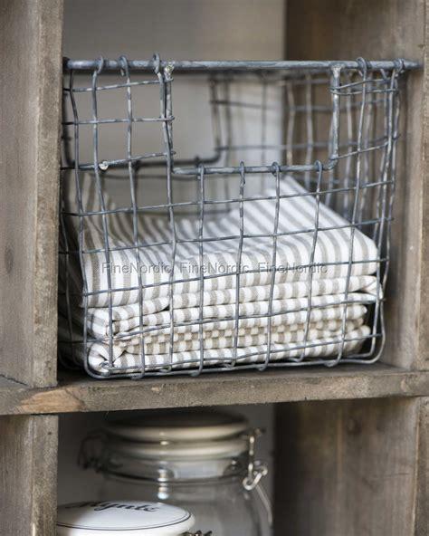 Etagere Draht by Ib Laursen Basket Wire Open Handle