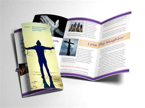 Download Design Template For Church Bulletin Religious Brochure Church Bulletin Templates Indesign