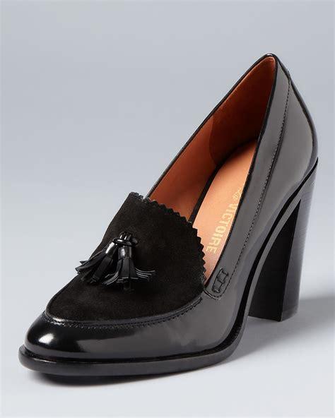 high heel loafer pumps pour la victoire loafer pumps drew high heel