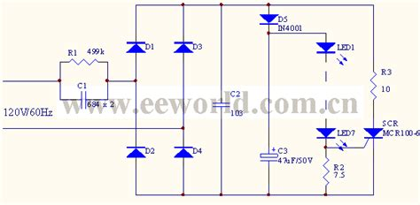 capacitor driving led capacitor buck driving led circuit 1 led and light circuit circuit diagram seekic