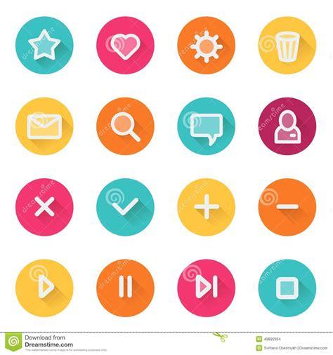 ui design elements vector flat ui design elements set of basic web icons stock