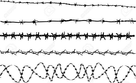 Barb Wire Clipart Tribal Pencil And In Color Barb Wire Tribal Barb Wire Designs