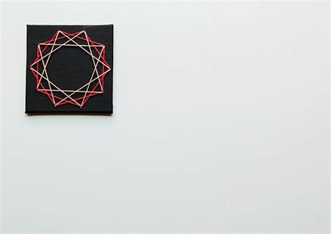 Geometric String - diy geometric string cards