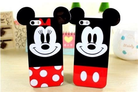 3d soft mickey minnie mouse ears cover for iphone 4 4s 5 5s 6 6 plus cases covers
