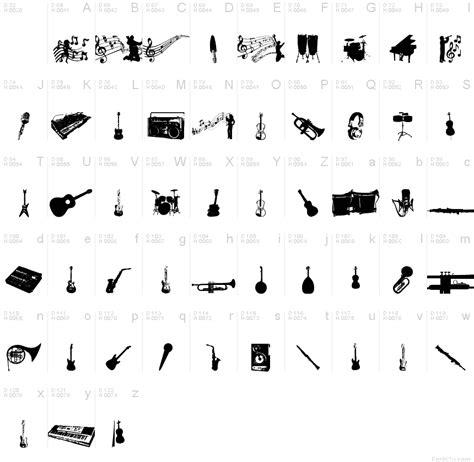 printable music font music tfb font