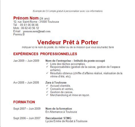 Modéles Cv by Resume Format Exemple De Cv Format Libre