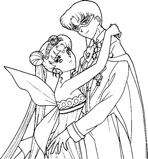 princess serenity coloring pages neo serenity and king endymion coloring page by