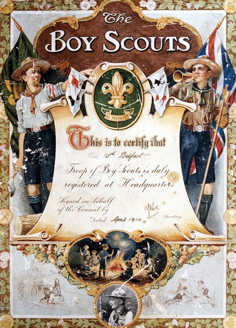 boy scout certificate templates origins tenth scouts