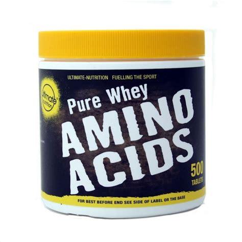 Amino Whey Protein whey amino acid tablets 500 ultimate nutrition
