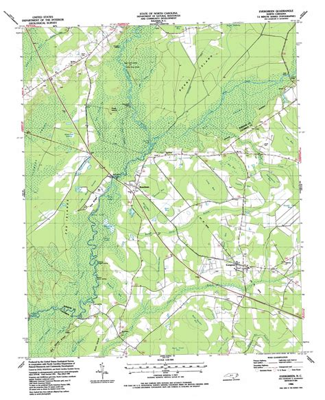 topographic map of carolina evergreen topographic map nc usgs topo 34078d8