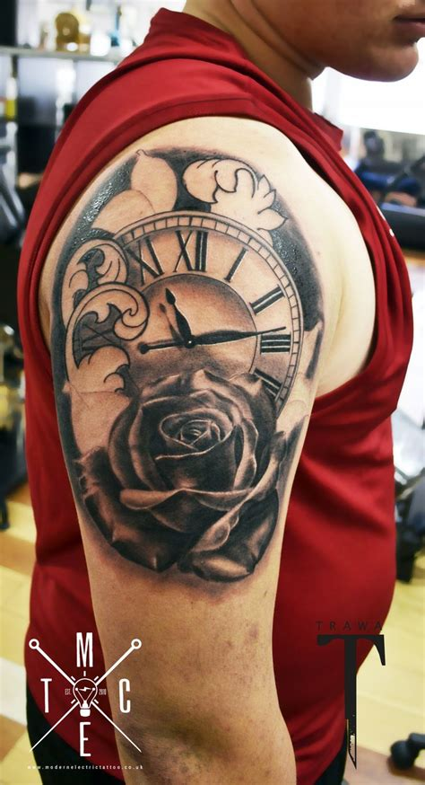 pocket watch rose tattoo clock rose tattoo tattoos