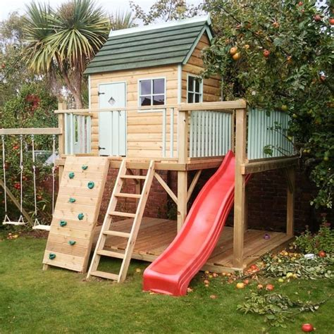 backyard slide plans pdf woodwork kids outdoor playhouse plans download diy