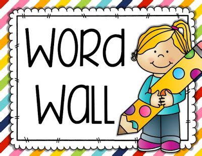 Word Wall Cards Template by S Lounge Back To School Freebie