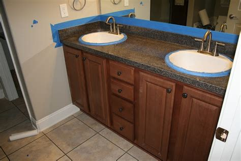 Countertop Refinishing Rustoleum by Becky Johnson We Should Do This In Our Bathroom Rustoleum Cabinet And Counter Refinish For