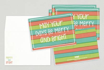 Merry And Bright Card Template by Merry Bright Card Template Inkd