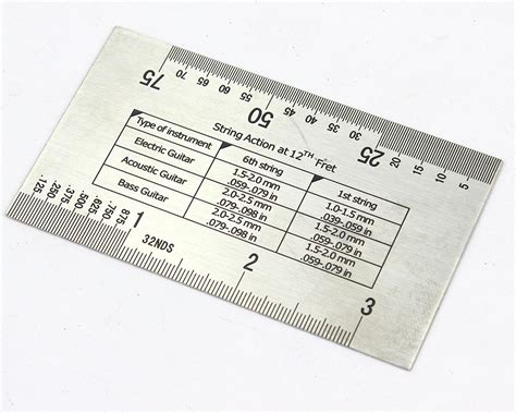 printable guitar ruler pit bull guitars string action ruler gauge ebay