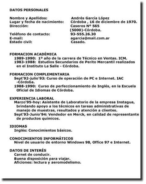 Modelo De Curriculum Vitae Paraguay Para Completar Curr 237 Culum Para Llenar Ejemplos De