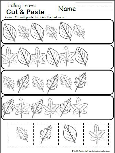 pattern worksheet cut and paste best 25 fall patterns ideas on pinterest 24 blocks