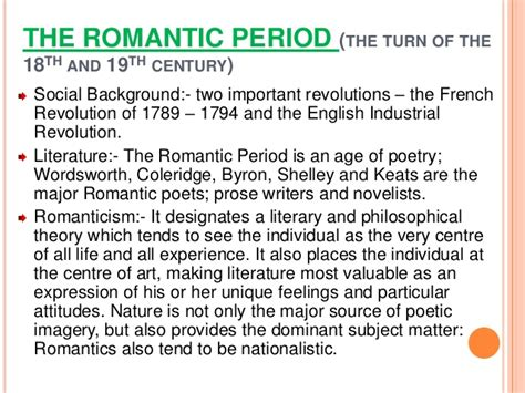 themes of english romantic poetry a short history of english literature
