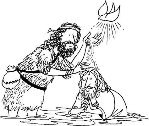 Baptism Of Jesus Coloring Page Baptism Of Christ Baptism Of Jesus Coloring Page