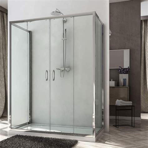 ante box doccia box doccia 3 lati doppia anta scorrevole h185 o 198 cm