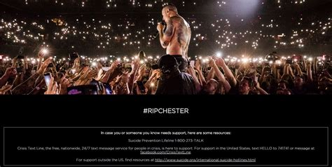 Linkin Set linkin park set up tribute page to chester bennington with