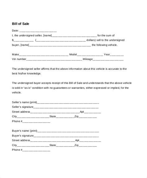 blank vehicle bill of sale pdf blank bill of sale vehicle