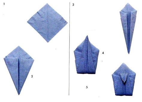 Napkin Folding Origami - swan from napkins scheme