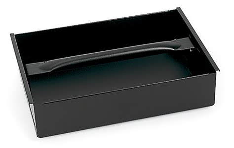 "Tote Tray, Metal, Black (10 x 14 13/16 x 3 13/16"")"