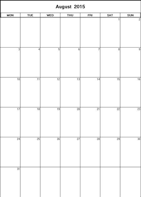 printable weekly calendar for august 2015 august 2015 printable blank calendar calendarprintables net