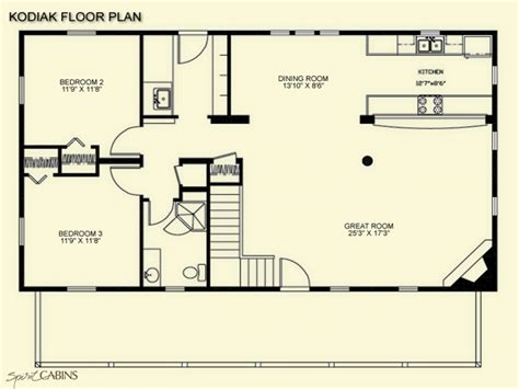 cottage floor plans free log cabin floor plans with loft log cabin floor plans