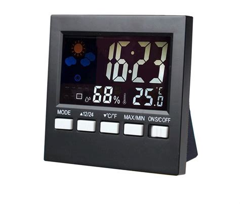 color screen digital alarm clock desktop table clock