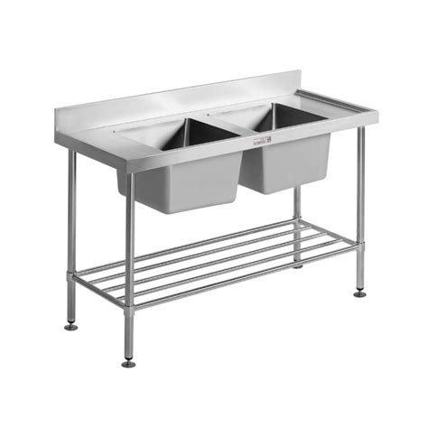stainless steel bench with sink simply stainless stainless steel double sink bench 700