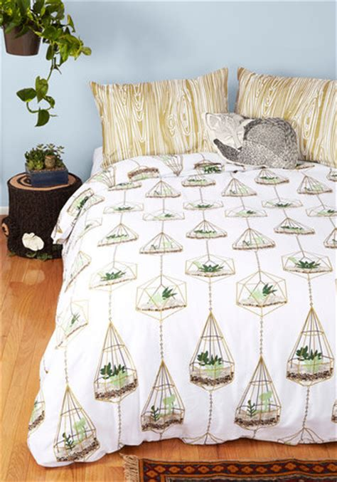 modcloth bedding terrific terrarium duvet cover in twin mod retro vintage decor accessories