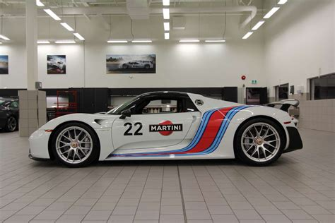 porsche martini porsche 918 spyder weissach pkg in martini livery for sale
