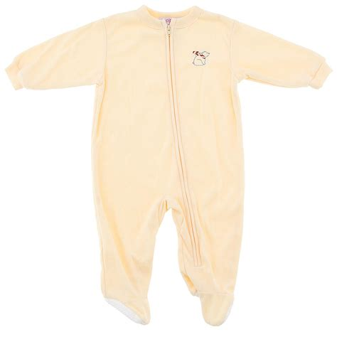 yellow solid footed sleeper pajamas for infant