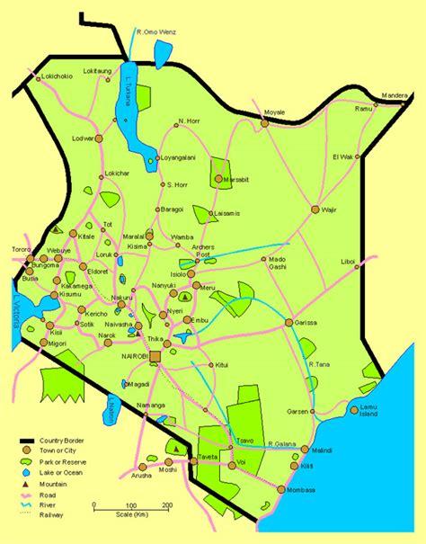 printable map kenya image gallery kenya map detailed