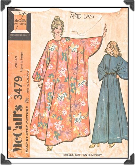 caftan pattern download mccalls pattern 3479 misses front zip caftan jumpsuit
