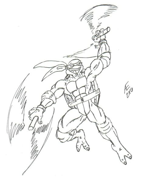 michelangelo turtle coloring page michelangelo the ninja turtle by king taurus on deviantart