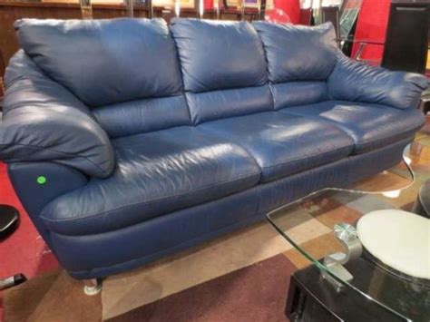 Blue Leather Sofa Bed 2017 Trendy Blue Leather Sofas For Bright Homes Leather