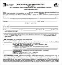 real estate purchase contract template sle real estate purchase agreement template 7 free
