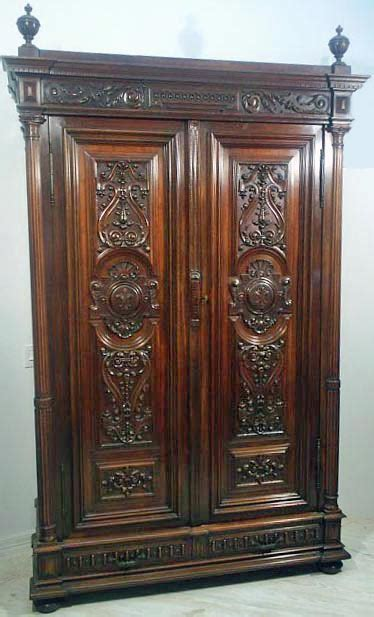 antique renaissance style armoire