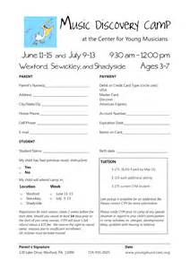 summer c registration form template take note discovery c 2012 registering now