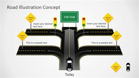 road map template for powerpoint free download traffic road powerpoint template design with road cross