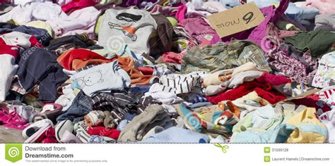 Garage Sales Baby Stuff by Tons Of Baby Clothes At Flea Market Royalty Free Stock
