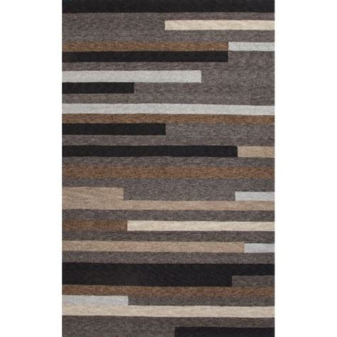 Outdoor Rug 6x9 Jaipur Indoor Outdoor Abstract Pattern Gray Brown Polyester Area Rug 7 6x9 6